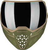 EMPIRE EVS PAINTBALL MASK W/ ADDITIONAL LENS - OLIVE/TAN