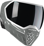EMPIRE EVS PAINTBALL MASK W/ ADDITIONAL LENS - WHITE/GREY