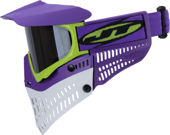 JT PRO-FLEX THERMAL PAINTBALL MASK - PURPLE/LIME/WHITE