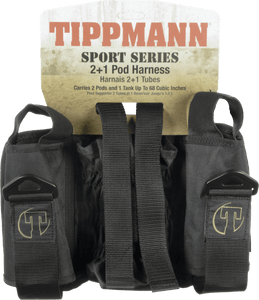 Tippmann 2+1 Pod Sport Series Paintball Harness- Black