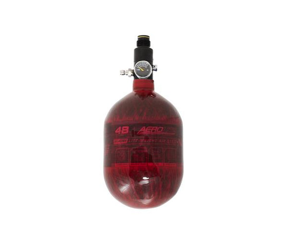 HK Army AeroLite Carbon Fiber Tank - 48ci / 4500psi - Red