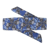 HK Army Hostilewear Headband- Skulls - Blue