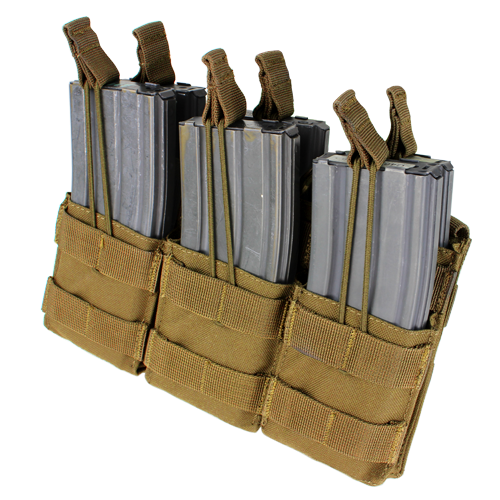 CONDOR TRIPLE STACKER M4 MAGAZINE POUCH- COYOTE