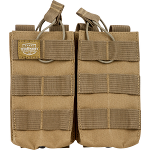 VALKEN TACTICAL AR DOUBLE MAGAZINE POUCH - TAN