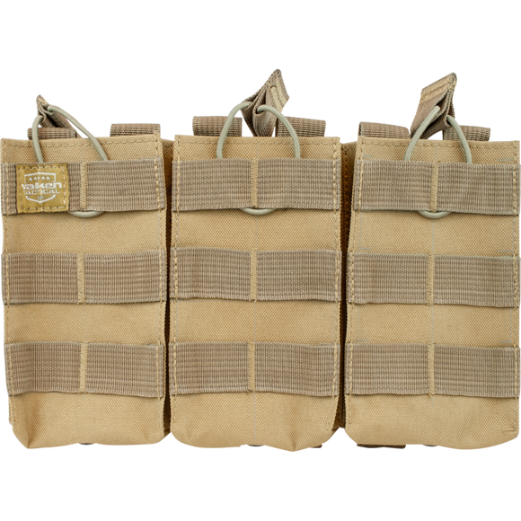 VALKEN TACTICAL AR TRIPLE MAGAZINE POUCH - TAN
