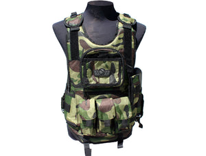 GXG Deluxe Tactical Vest - Woodland Camo