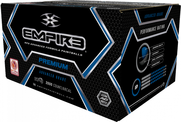 EMPIRE PREMIUM PAINTBALLS 2,000 ROUND PAINTBALL CASE