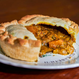 Vegan Butternut Squash & Coconut Curry Pie