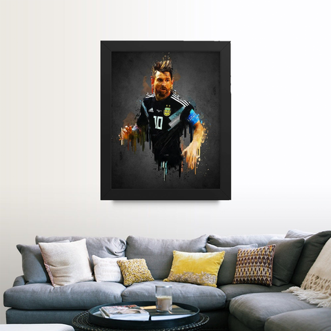 Leo Messi Amazing Art Framed Poster