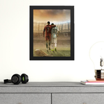 Cristiano & Messi Amazing Art Framed Poster