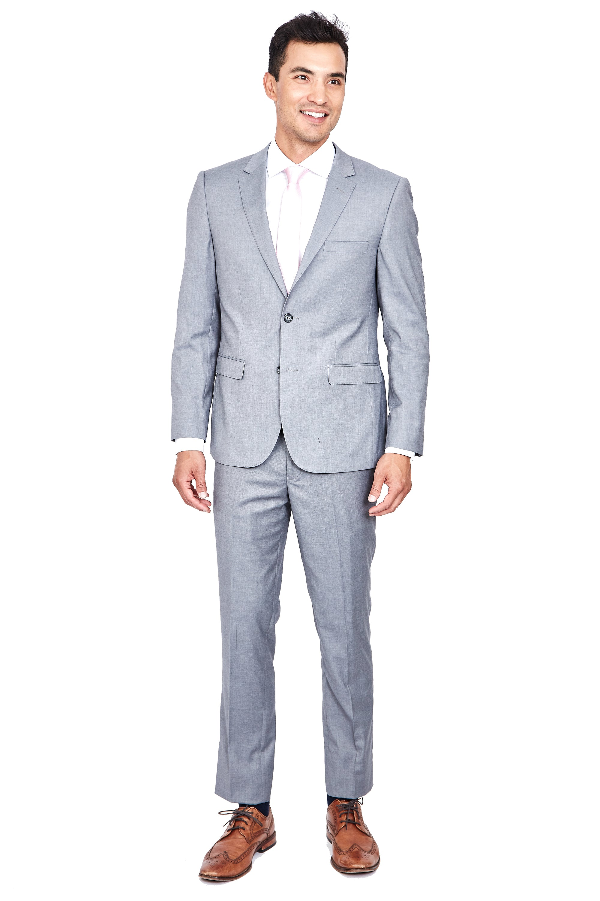 Stretch Suit-Light Grey