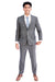 Hand Made Sharkskin Grey Windowpane Suit