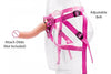 pink lady strap on harness crocodildo 05