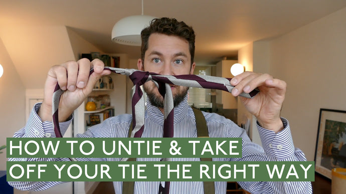 How To Untie & Take Off Your Tie The Right Way
