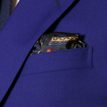 Load image into Gallery viewer, sharp&dapper - Hand Rolled Pocket Square - Fern Chain