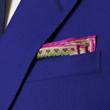 Load image into Gallery viewer, sharp&dapper - Hand Rolled Pocket Square - Purple Chain