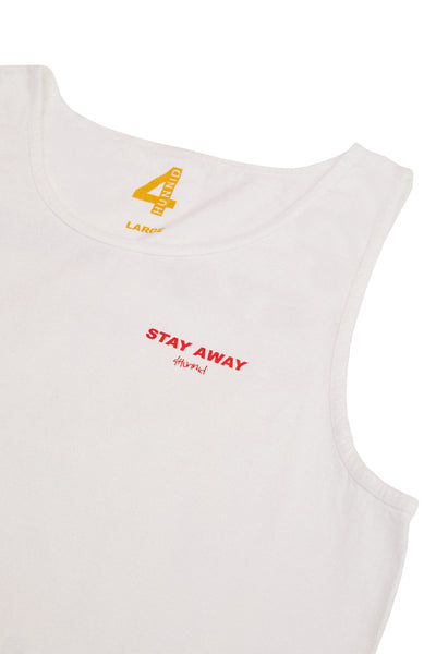 STAY AWAY SLEEVELESS TANK TOP (WHITE)