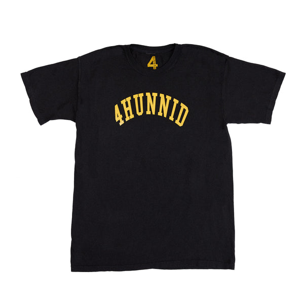 4HUNNID COLLEGIATE SS (WASHED BLACK)