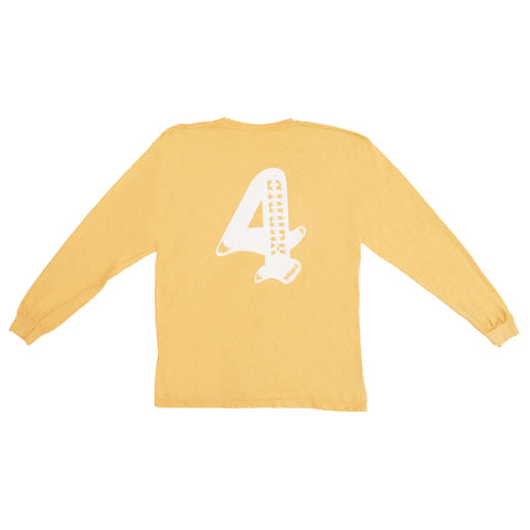4HUNNID WORLD WIDE LS (MUSTARD)