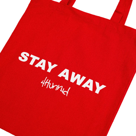 STAY AWAY CANVAS TOTE (RED)