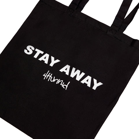 STAY AWAY CANVAS TOTE (BLACK)