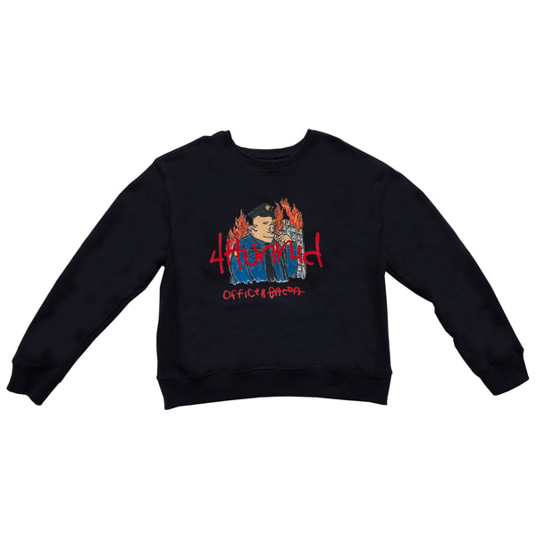 OFFICER BACON CREWNECK (BLACK)
