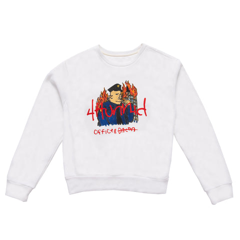 OFFICER BACON CREWNECK (WHITE)