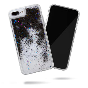 Glitter Liquid Case for iPhone 8 Plus & iPhone 7 Plus - Black Pearls w/ Iridescent Glitter