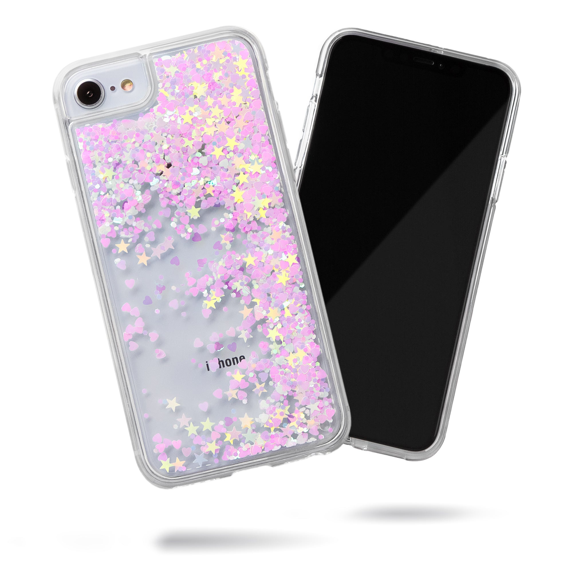Glitter Liquid Case for iPhone SE, iPhone 8 & iPhone 7 - Pink Chameleon Confetti