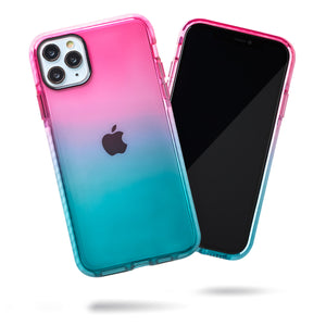 Barrier Case for iPhone 11 Pro Max- Blue n Pink Gradient Sunset