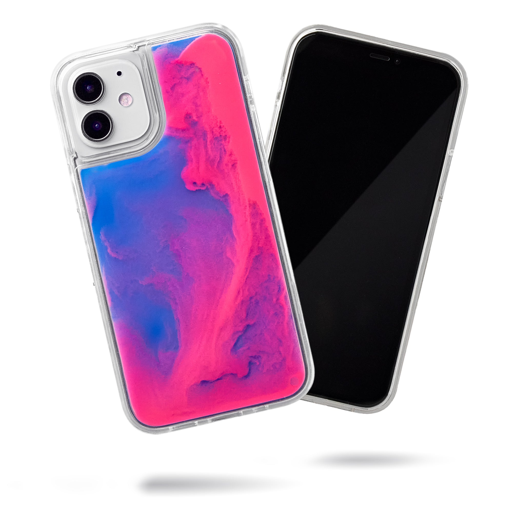 Neon Sand iPhone 12 Mini Case - Blueberry and Pink Glow