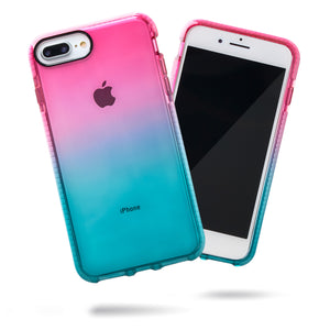 Barrier Case for iPhone 8 Plus & iPhone 7 Plus - Blue n Pink Gradient Sunset