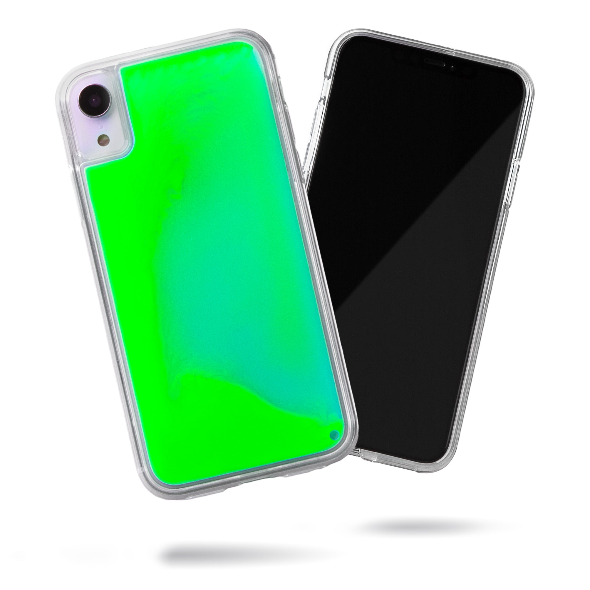 Neon Sand iPhone XR Case - Mint and Neon Green Glow