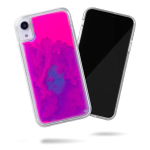 Neon Sand iPhone XR Case - Blueberry and Pink Glow