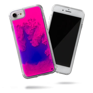Neon Sand iPhone SE/8/7 Case - Blueberry and Pink Glow
