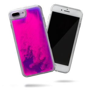 Neon Sand iPhone 8+/7+ Case - Blueberry and Pink Glow