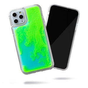 Neon Sand iPhone 11 Pro Case - Mint and Neon Green Glow