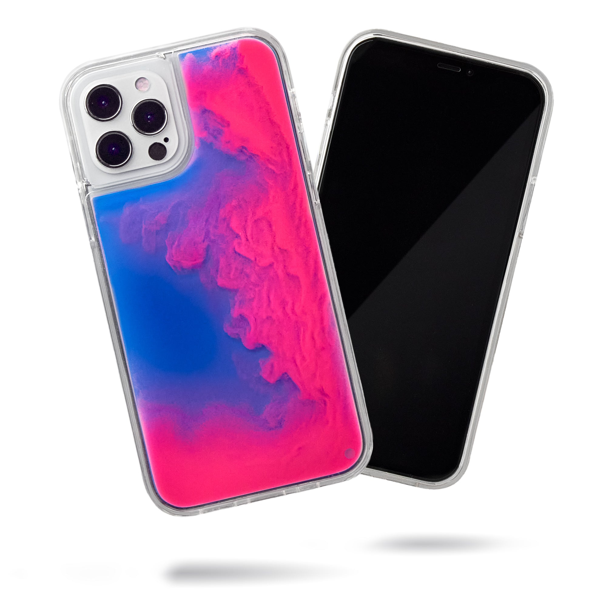 Neon Sand iPhone 12 Pro Max Case - Blueberry and Pink Glow