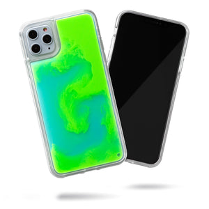 Neon Sand iPhone 11 Pro Max Case - Mint and Neon Green Glow