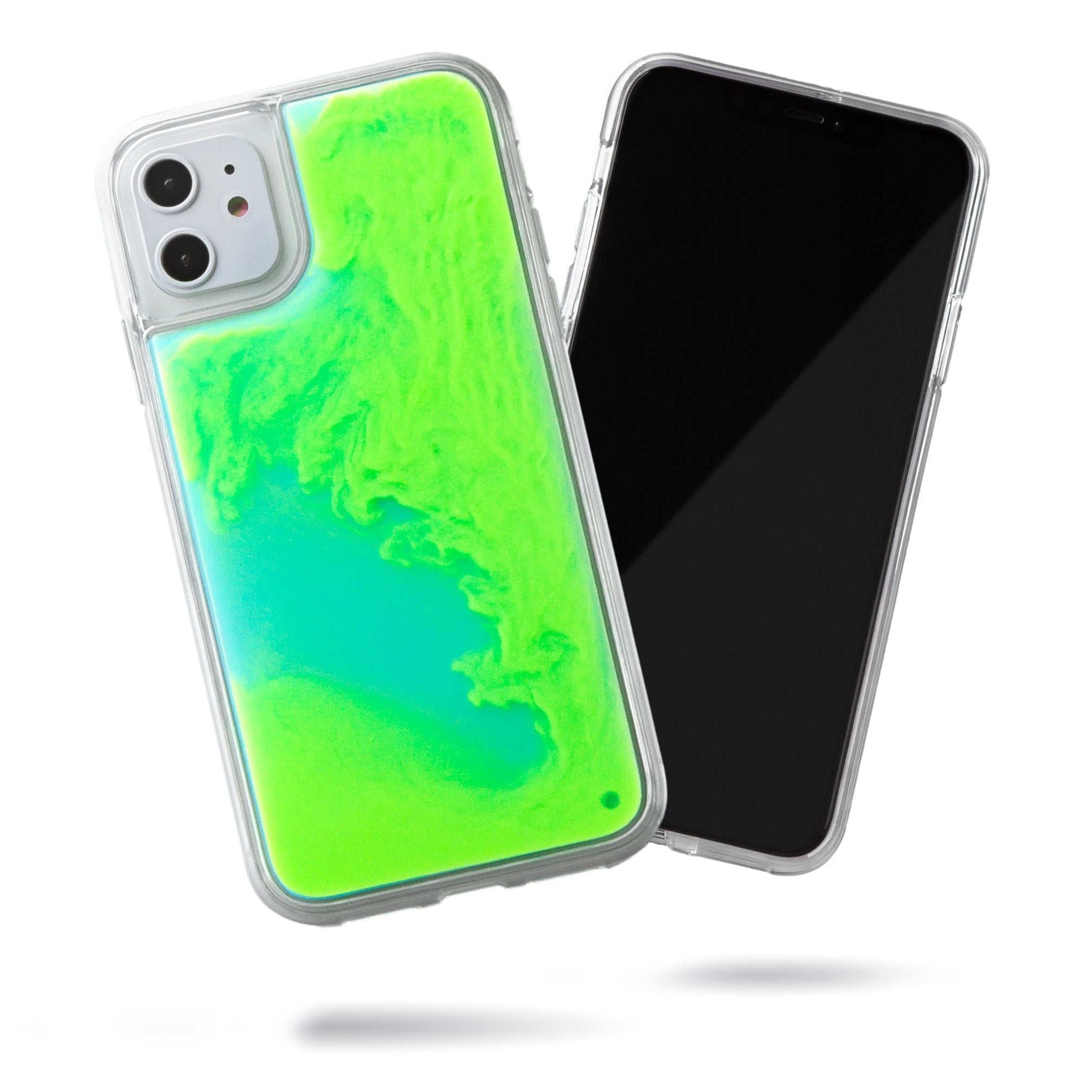 Neon Sand iPhone 11 Case - Mint and Neon Green Glow