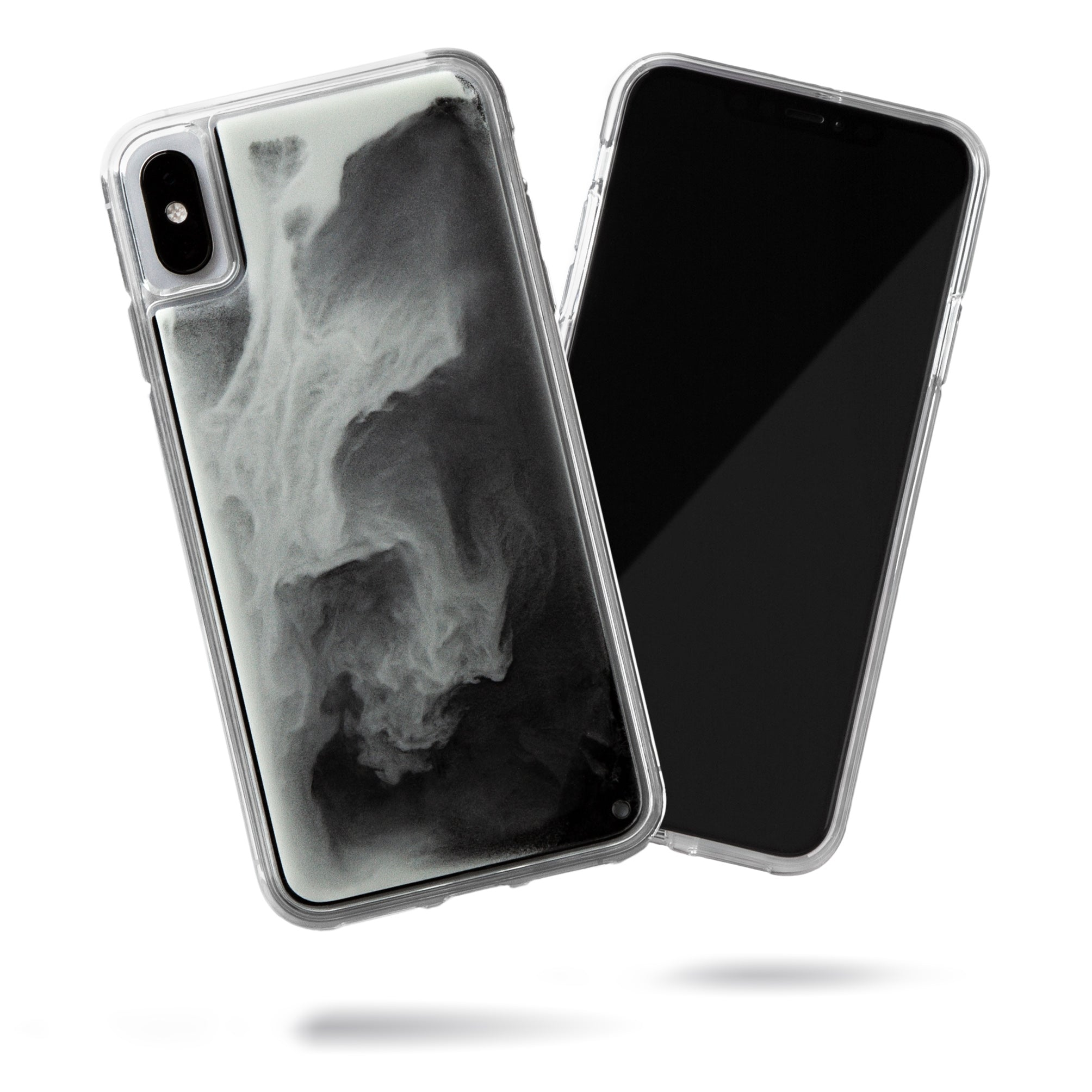 Neon Sand iPhone Xs Max Case - Hi Contrast Black n White