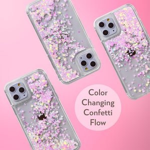 Glitter Liquid Case for iPhone 11 Pro - Pink Chameleon Confetti