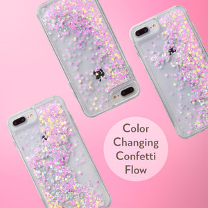 Glitter Liquid Case for iPhone 8 Plus & iPhone 7 Plus - Pink Chameleon Confetti