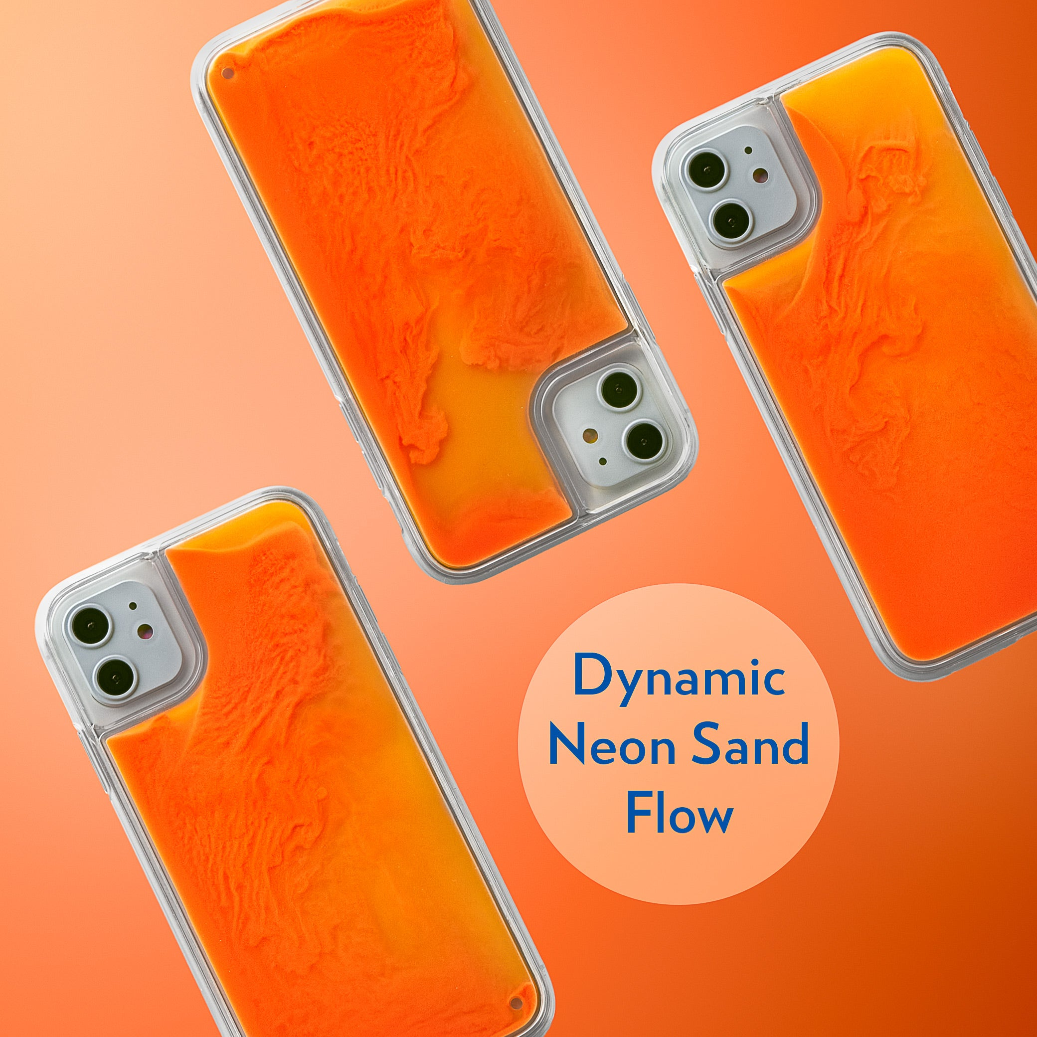 Neon Sand iPhone 11 Case - Orange Soda