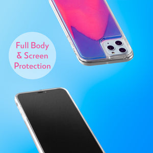 Neon Sand iPhone 11 Pro Case - Blueberry and Pink Glow