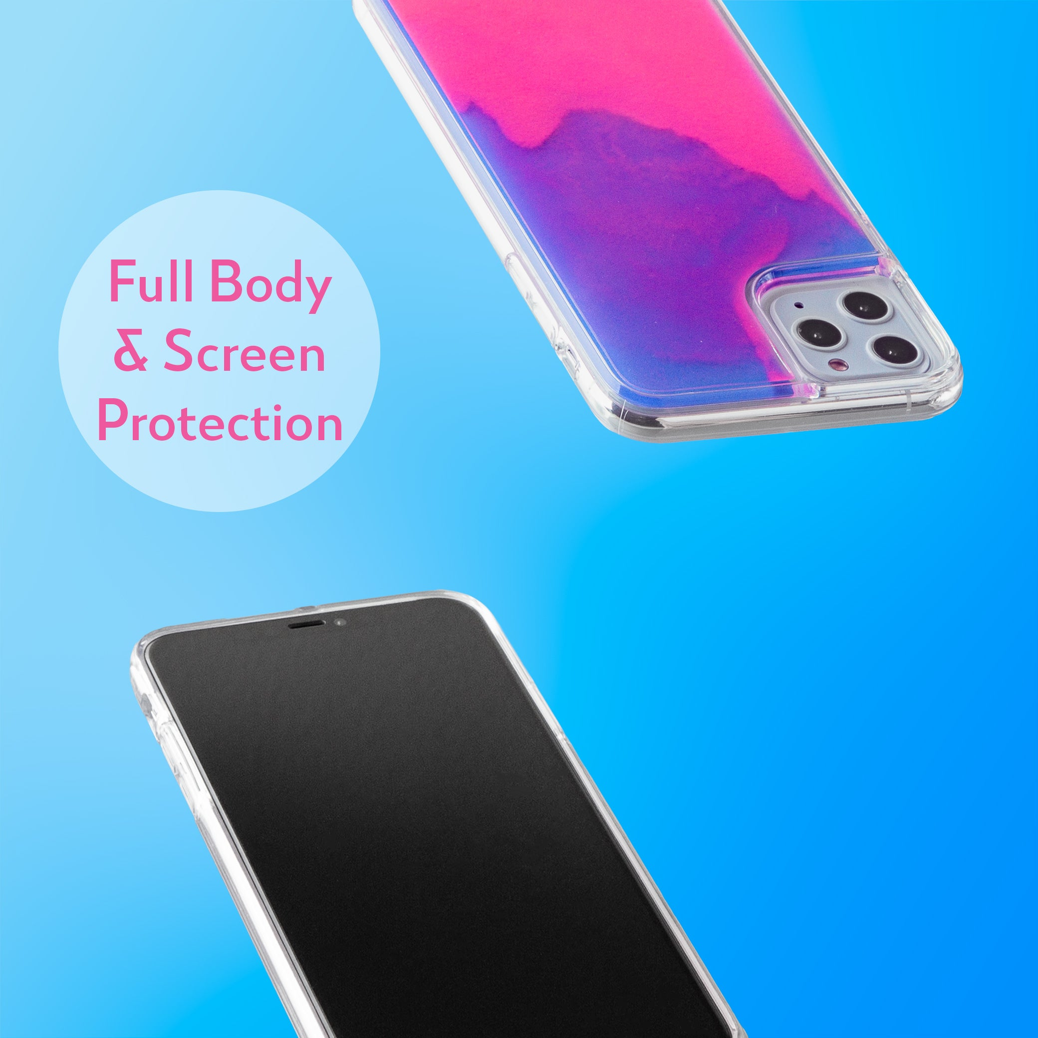 Neon Sand iPhone 11 Pro Max Case - Blueberry and Pink Glow