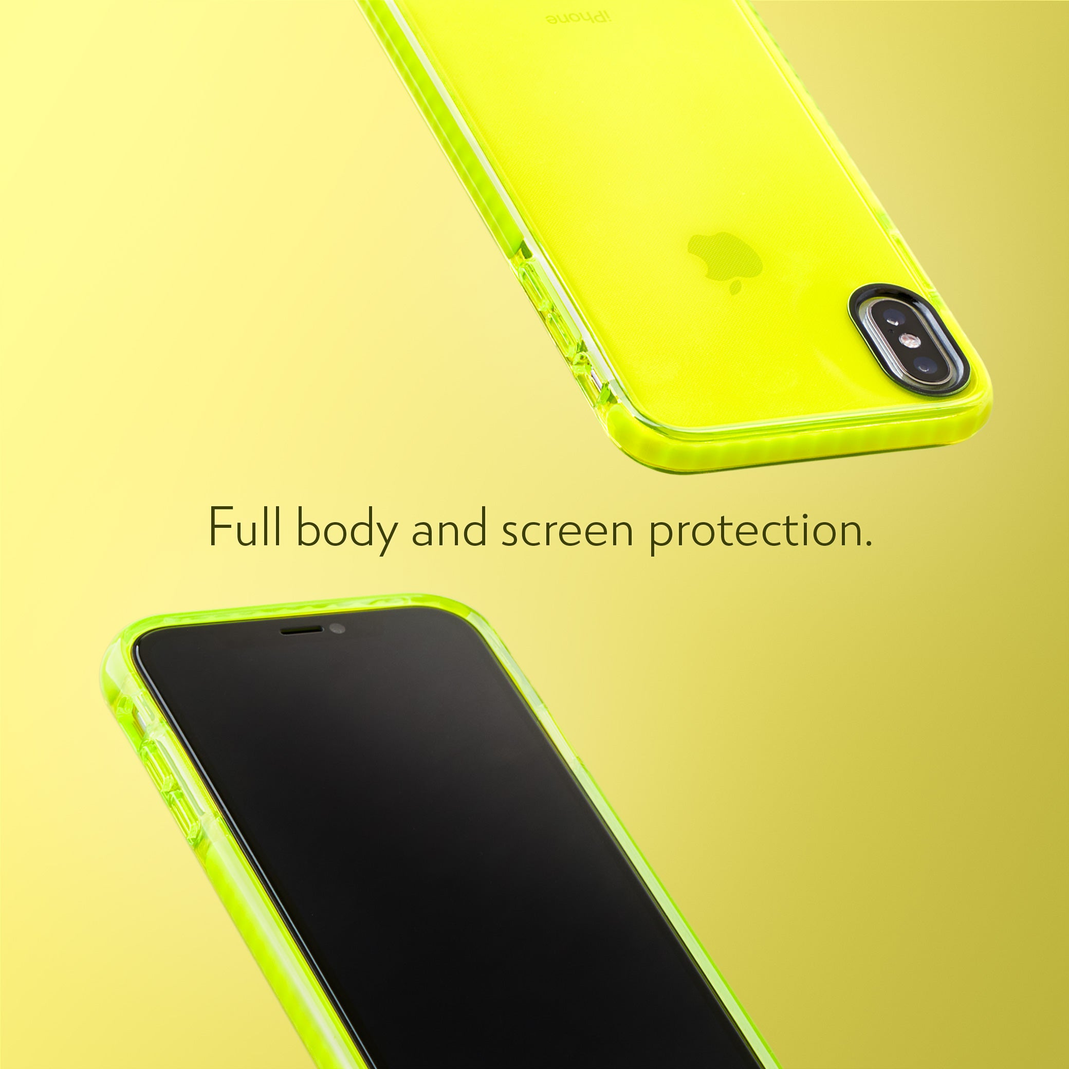 Barrier Case for iPhone Xs & iPhone X - Hi-Energy Neon Yellow