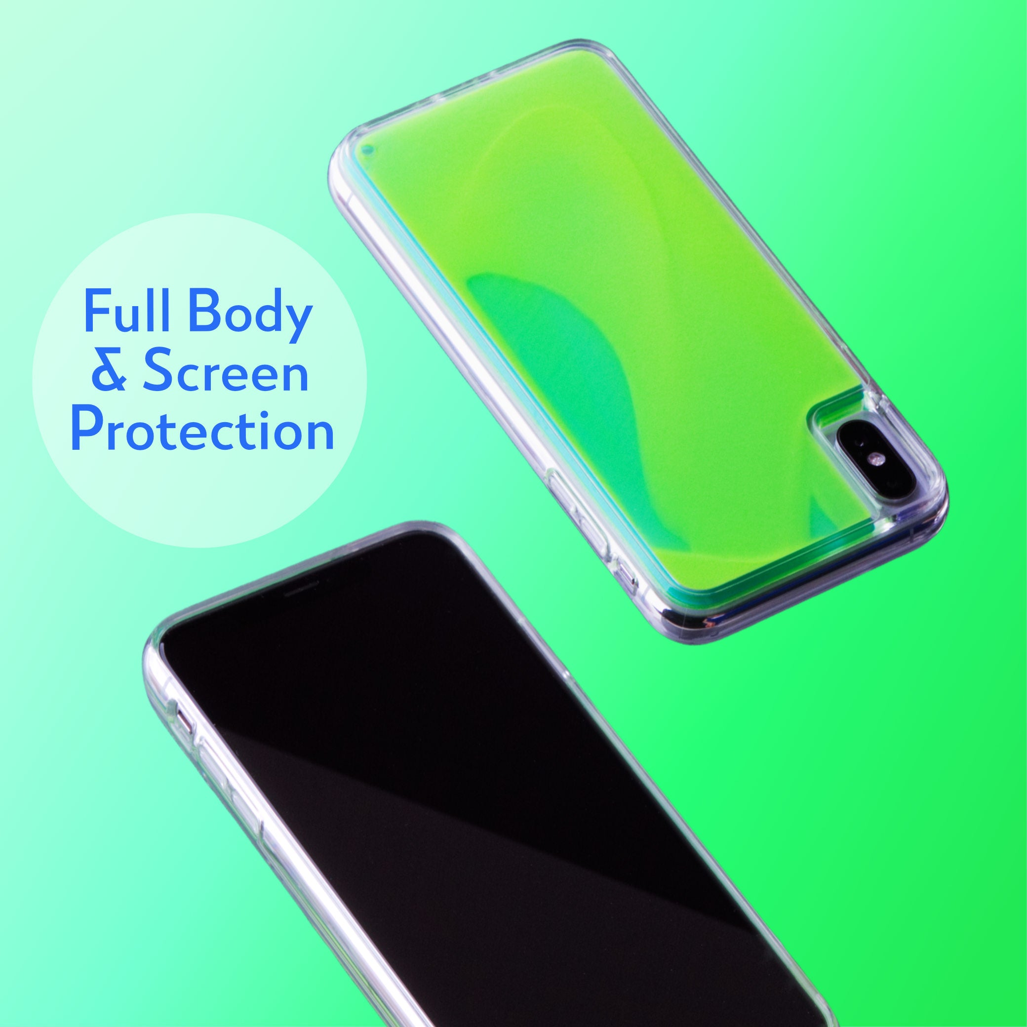 Neon Sand iPhone Xs/X Case - Mint and Neon Green Glow