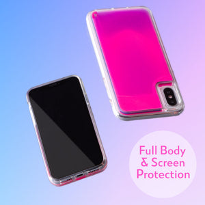 Neon Sand iPhone Xs/X Case - Blueberry and Pink Glow