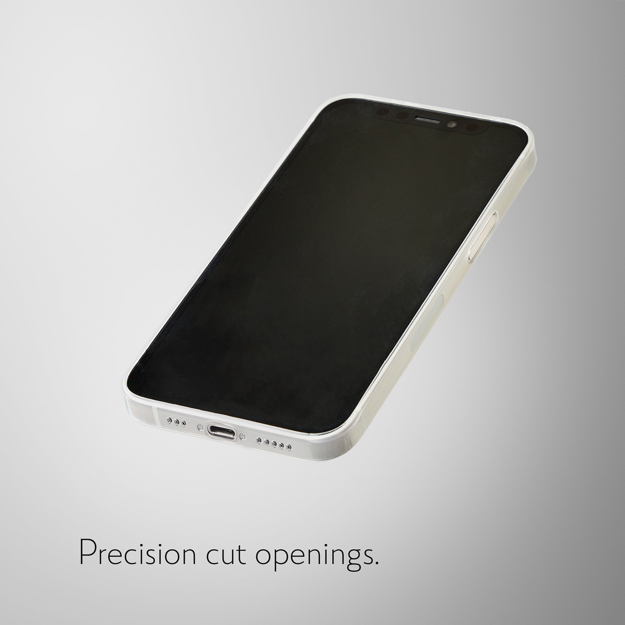 Super Slim Minimalist Case for iPhone 12 - Crystal Clear
